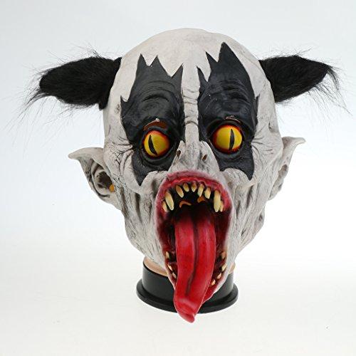 Jili Online Overhead Scary Mutated Bat Mask Latex Mask Halloween Costume Adult Fancy Dress -