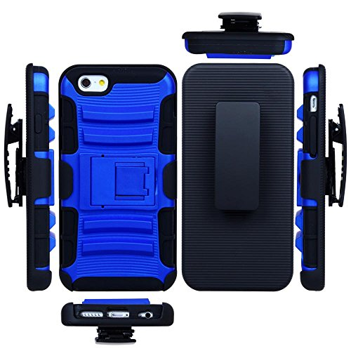 Toch TM Shockproof Holster Case with Kickstand Belt Clip for Apple iPhone 6 4.7 Inch Azury