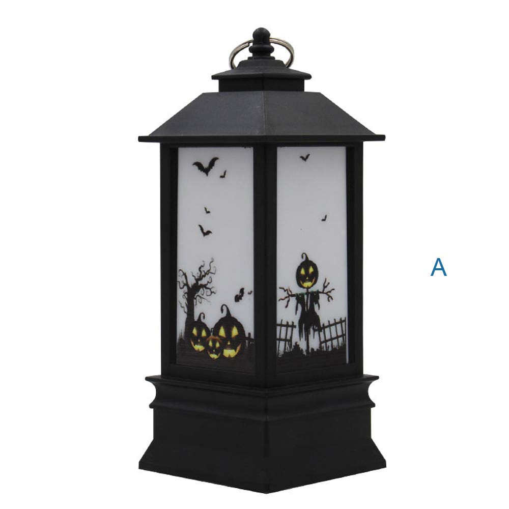 Willsa 1 pcs Halloween Candle with LED Tea Light Candles for Halloween Decoration Part