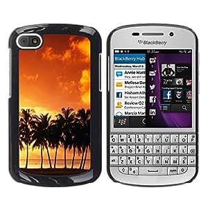 Paccase / SLIM PC / Aliminium Casa Carcasa Funda Case Cover - Sunset coconut Beautiful Nature 120 - BlackBerry Q10