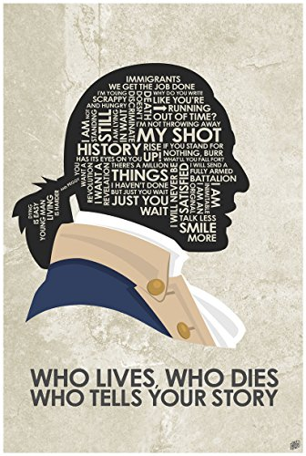 Hamilton 'WHO Lives, WHO Dies WHO Tells Your Story Word Art Print Poster (24