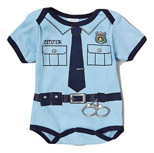 Price comparison product image Police Chief Baby Infant Boy's Blue Costume Creeper (6 / 9 Months,  Short Sleeve)