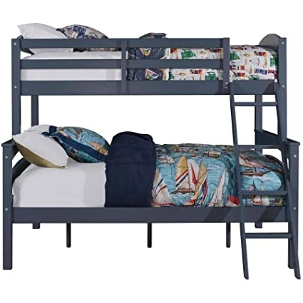 Amazon.com: Convertible Twin Over Full Bunk Bed, Made of ...