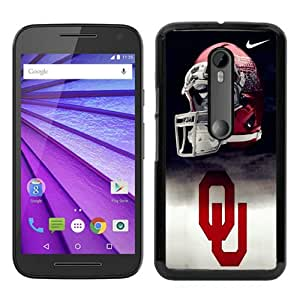 Oklahoma Sooners 01 Black Special Custom Picture Design Motorola Moto G 3rd Generation Phone Case
