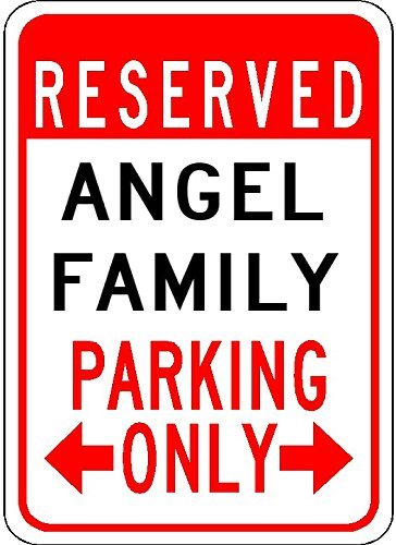 Metal Signs Angel Family Parking - Customized Last for sale  Delivered anywhere in USA
