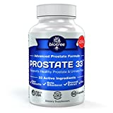 Biotree Labs Prostate 33 - Advanced Prostate Formula supports Prostate Health & Urinary Function with Saw Palmetto, Beta Sitosterol, Broccoli Extract