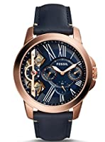 Fossil Grant Twist Three-Hand Leather Watch