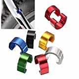 OUTERDO 10X Multicolor Steel Cycling Bike Bicycle Brake Gear Cable C-Clips House Hose Guides Brake Line Buckl