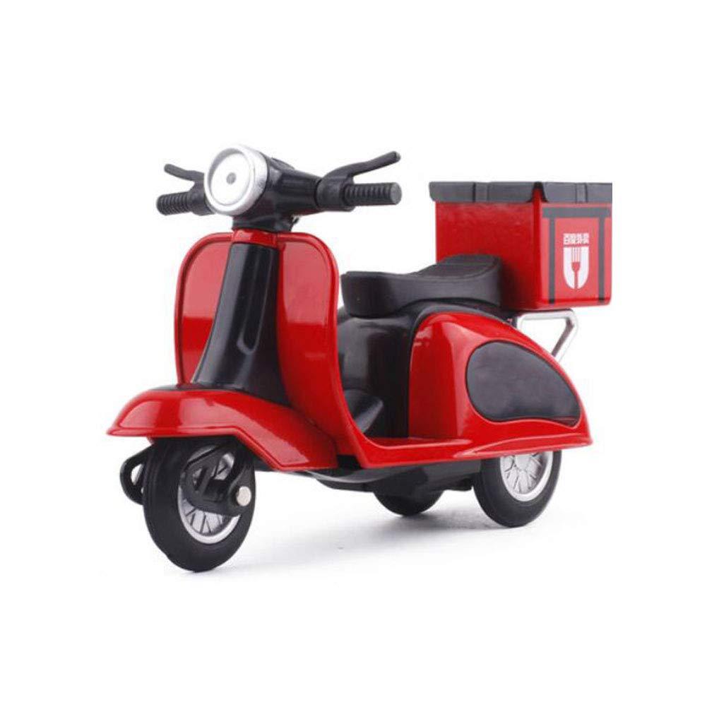 FH Imbiss-Auto-Pendel-Legierung Mini ziehen Auto-Roller Mini Imbiss-Auto-Pendel-Legierung mit Endstück-Kasten-Modell-Pedal-Spielzeug zurück (Farbe   ROT) af6113