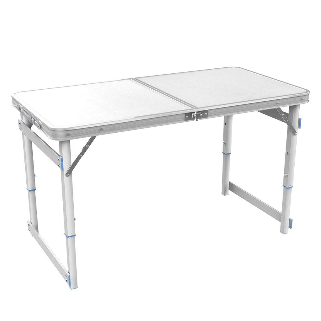 Strong Foldable Table Aluminum Outdoor Camping Table Waterproof Laptop Desk Adjustable Table BBQ Portable Lightweight Box (Color : White) by HD-Table & Chair Sets