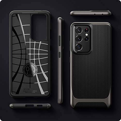 Spigen Neo Hybrid Designed for Galaxy S21 Ultra Case (2021) - Gunmetal