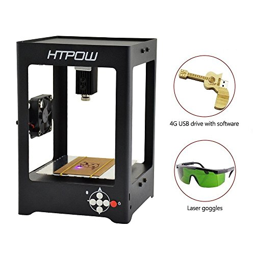 Miniature Laser Engraver Printer , Blu7ive 1000mw USB DIY Art Craft Handicraft Laser Engraving Cutting Machine Off-line Operation with Laser Safety Goggles