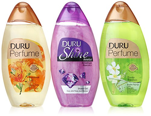 Duru 3 Piece Shower Gel Variety Pack, Amethyst/Lily/Bamboo For Sale