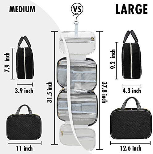 Hanging Toiletry Bag for Women, Travel Makeup Bags Organizer for Accessories Toiletries, Full Sized Container