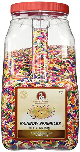 Chef's Quality Rainbow Sprinkles 7lb (bulk Pack of 2) by Chef's Quality