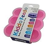 KIDDO FEEDO - Der original Portionierer zum Einfrieren von Muttermilch und Babykost mit Silikondeckel - BPA-frei - 9 x 75ml - Gratis eBook mit Rezepten und Ernährungstipps - Lebenslange Garantie - Rosa