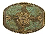 Antique Brass Western Belt Buckle