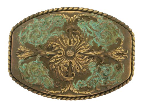 Antique Brass Western Belt Buckle