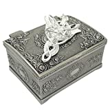 Ruimeng Silver Plated Lord of the Rings Arwen's Evenstar Pendant Necklace with Jewelry Box Women,Girls