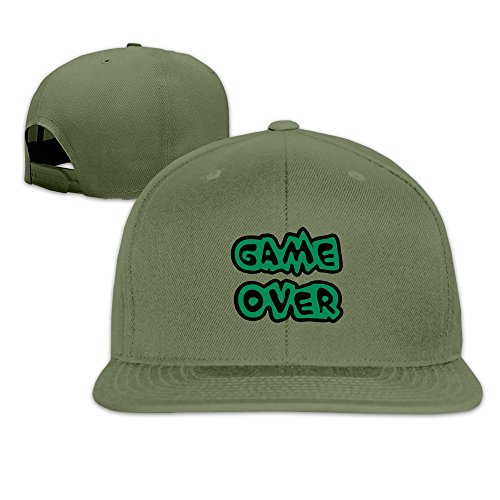 VOLTEBQ Game Finished Flat Bill Baseball Adjustable Hat Snapback ForestGreen