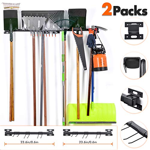 Tool Racks For Garage Walls- Wall Holders For Tools - Wall Mount Tool Organizer- Wall Mount Tools Home & Garage Storage System - Steel Gear Hanger