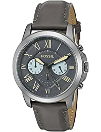 Men's FS5183 Grant Chronograph Gunmetal/Black Leather Watch
