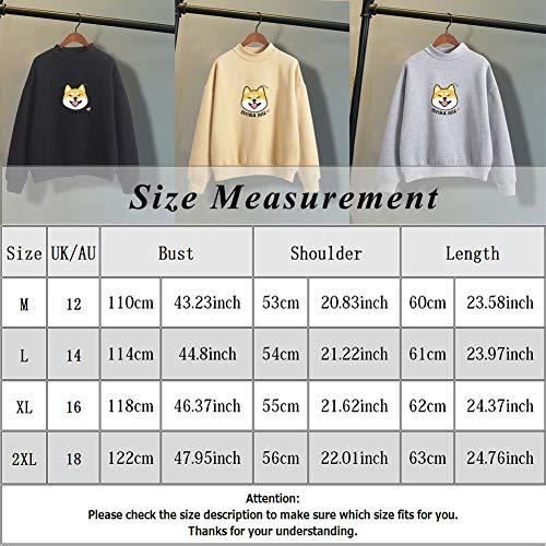 918d5548e4c Bangerdei Women s Shiba Inu Animal Print Jumper Sweatshirt Cute Casual  Hoodie Top
