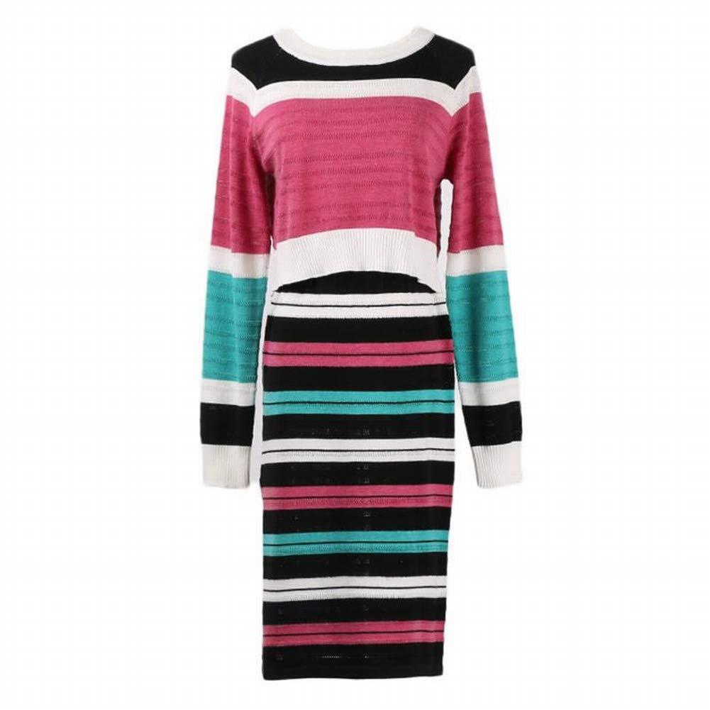 Good dress Striped Strickwaren  Halben Rock Set Körper Schlank Damen Tasche Hip Europa B07H3JX2FW Bekleidung Guter Markt