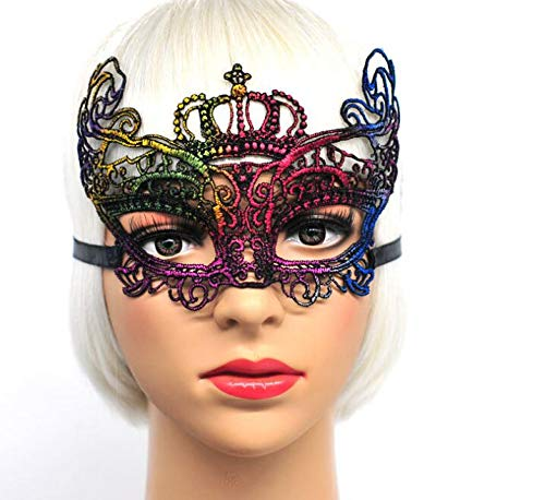 Huasen Venetian Lace Cutout Mask Elegant Half Face Festival Masquerade -
