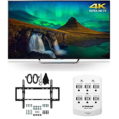 Sony XBR-55X850C - 55-Inch 3D 4K Ultra HD Smart LED HDTV Flat/Tilt Wall Mount Bundle includes Sony XBR55X850C 55-Inch 3D 4K TV, Flat & Tilt Wall Mount Kit Bundle and 6 Outlet Wall Tap w/ 2 USB Ports