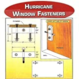 (8 Pack) Hurricane Window Fasteners - for Covering Windows & Doors with Plywood