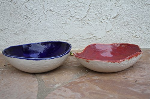 Serving Bowl set of 2, handmade ceramic bowls, salad bowls, pasta bowl, kitchen pottery serving dish, housewarming gifts
