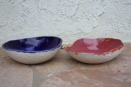Serving Bowl set of 2, handmade ceramic bowls, salad bowls, pasta bowl, kitchen pottery serving dish, housewarming gifts