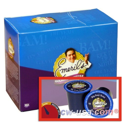 Emeril's Big Easy Bold Coffee K-cups 144 Ct (6 Boxes of 24 Ct) (Emerils Roasted Coffee)