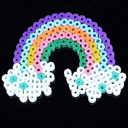 Creare Gioielli Natale Idea Regalo Perline da Stirare 3D 5 mm Bambine Colore Bianco Gioco Creativo 1000 Pezzi Perline a Fusione Compleanno