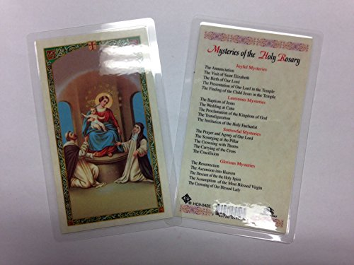Rosary Prayer Cards (Holy Prayer Cards for the Mysteries of the Holy Rosary set of 2 in English)