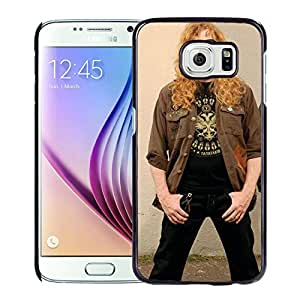 Beautiful Designed Cover Case With Megadeth Glasses Hair Jackets Wall For Samsung Galaxy S6 Phone Case