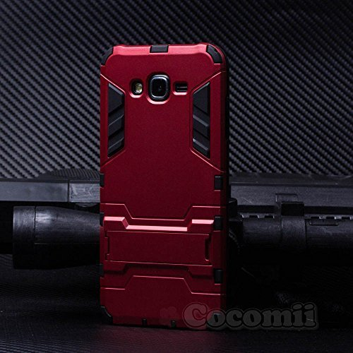 Cocomii Iron Man Armor Galaxy J7 Case New [Heavy Duty] Premium Tactical Grip Kickstand Shockproof Hard Bumper Shell [Military Defender] Full Body Dual Layer Rugged Cover for Samsung Galaxy J7 (I.Red)