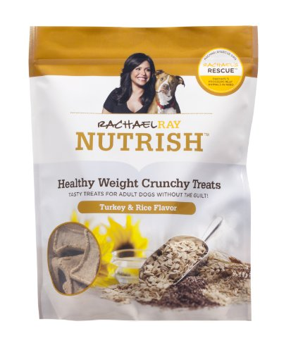 Rachael Ray Nutrish Healthy Weight Treats, Turkey & Rice Crunchies Recipe, 10-Ounce Pouch (Pack Of 5)
