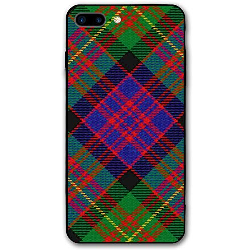 Scots Style Clan Carnegie Tartan Plaid iPhone 7plus 8plus 7/8 Plus Phone Case Cover Theme Decorative Mobile Accessories Ultra Thin Lightweight Shell Pattern Printed
