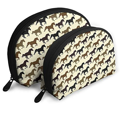(Horse Racing Cosmetic Bag & Case Portable Carry On Travel Toiletry Bag Makeup Quart Luggage Pouch Handbag Organizer For Men And Women)