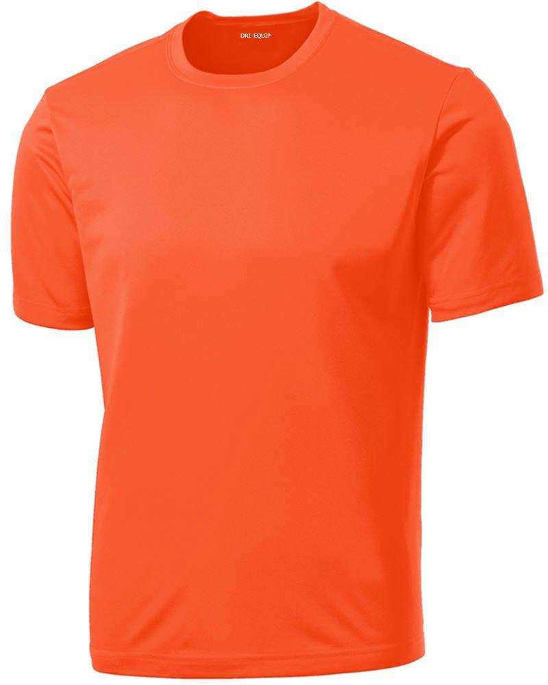 DRIEQUIP Men's Short Sleeve Moisture Wicking T-Shirt-Neonorange-XS by DRIEQUIP