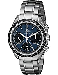 Men's 32630405003001 Speed Master Analog Display Automatic Self-Wind Silver-Tone Watch