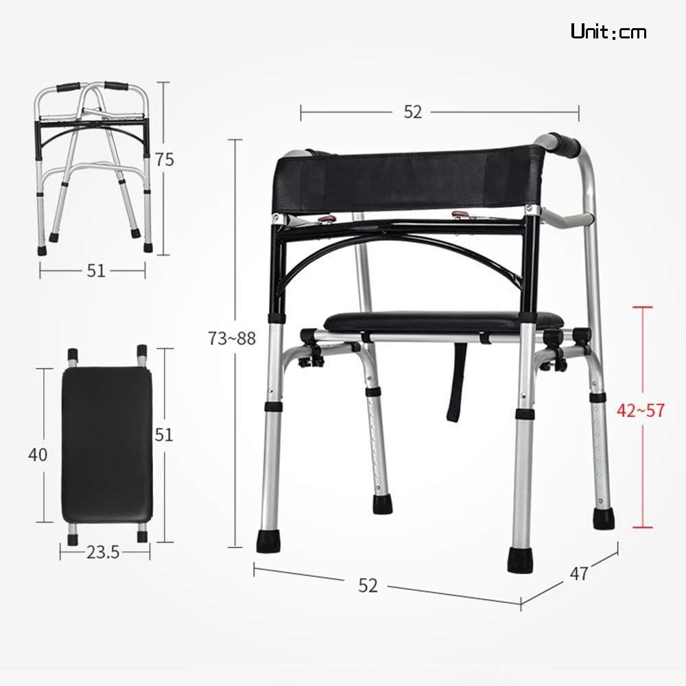 Amazon.com: Bseack - Andador plegable con ruedas para ...