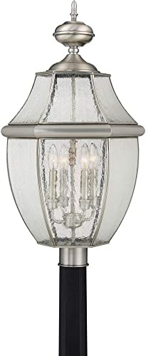 Quoizel NY9016P, Newbury Outdoor Post Lighting, Pole, 72 Total Watts, Pewter