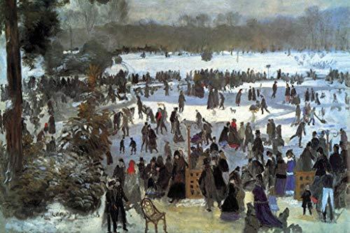 ArtParisienne Skating Runners in The Bois de Bologne Pierre-Auguste Renoir 32x48-inch Wall Decal