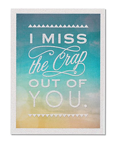 American Greetings Funny Miss You Thinking of You Card with Glitter - 5856786