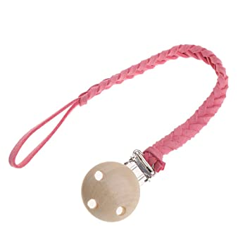Baby Leather Boy Girl Nipple Holder Pacifier Clips Soother Chain Teether Strap