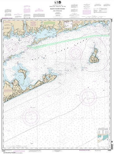 Paradise Cay Publications NOAA Chart 13205: Block Island Sound and Approaches, 35 X 47.4, TRADITIONAL PAPER