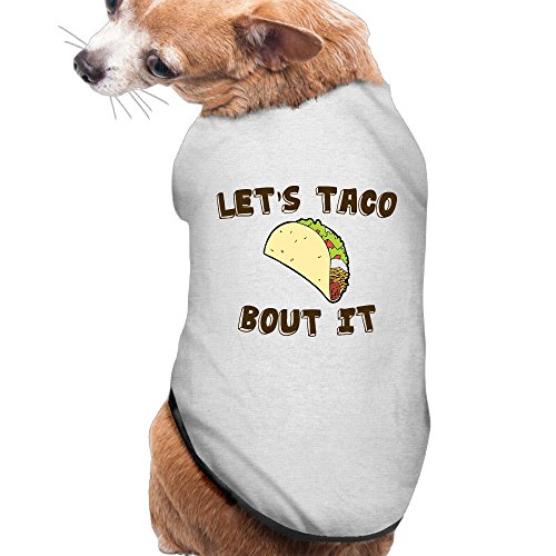 Funny Taco Summer Costumes, Clothing, Shirt, Vest, T-shirt, Puppy Pet Dog Cat Fashion 100% Polyester Fiber Tee Gift For Any Animal Fan Lovers Ash (Dog Hamburger Costume)